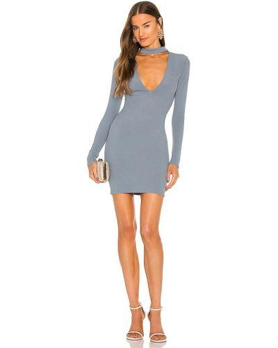 Синее трикотажное платье Michael Costello