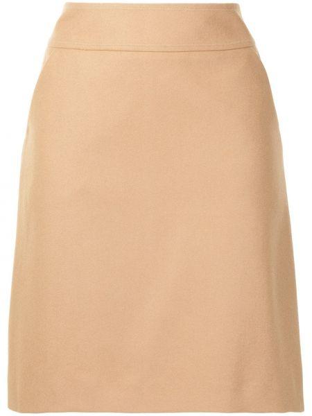 Шерстяная юбка миди - коричневая Paule Ka