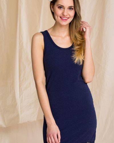 Хлопковое платье - синее Key