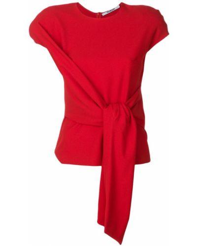 Блузка с короткими рукавами - красная Chalayan