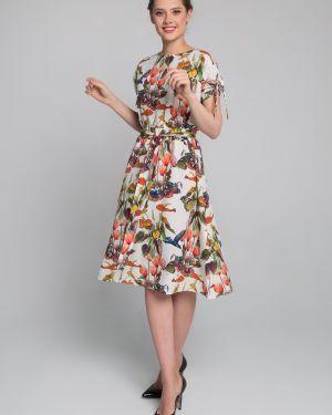 Платье с цветочным принтом платье-сарафан Sezoni
