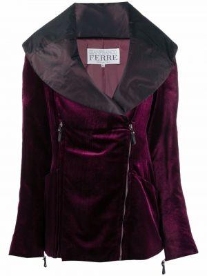 Фиолетовая куртка на молнии Gianfranco Ferre Pre-owned