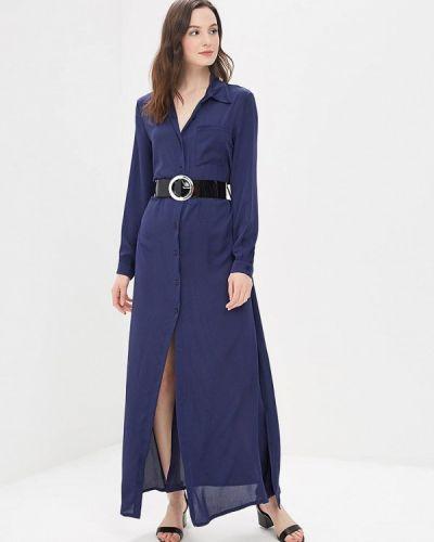 Синее платье с длинными рукавами Miss Miss By Valentina