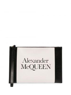 Złota kopertówka - biała Alexander Mcqueen