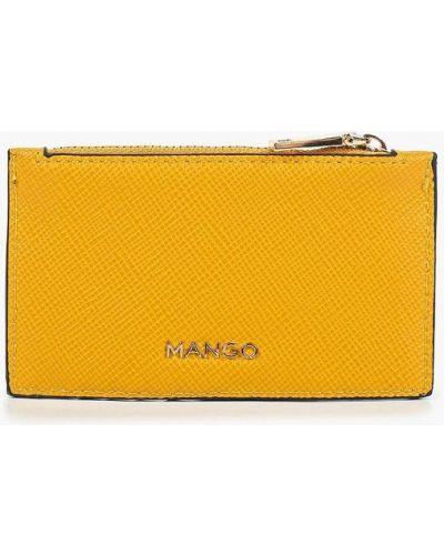 Желтая визитница Mango