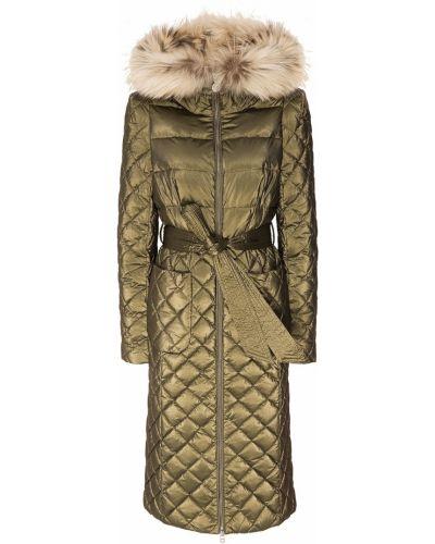 Зимнее пальто стеганое зеленое Naumi