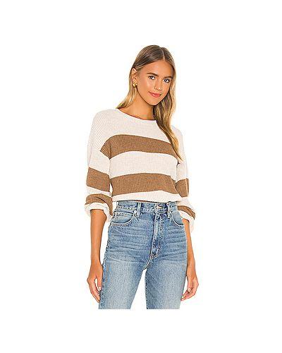Коричневый акриловый вязаный свитер с воротником Cupcakes And Cashmere