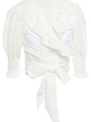 Bluzka kopertowa z wiskozy Ganni