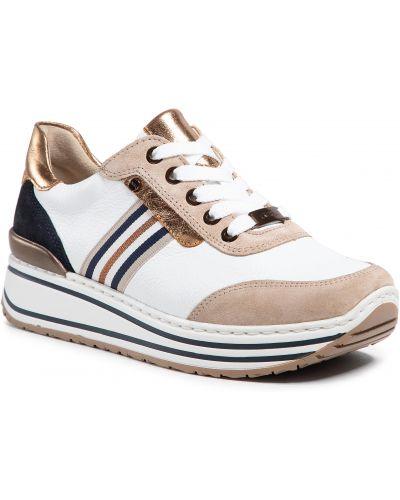 Buty sportowe skorzane - białe Ara