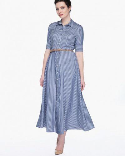Платье весеннее синее Gregory