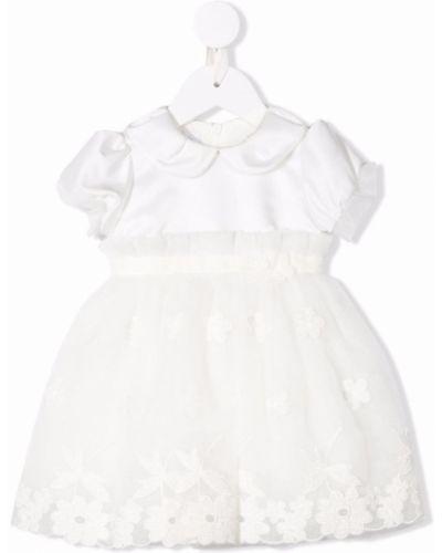 Biała sukienka krótki rękaw Colorichiari