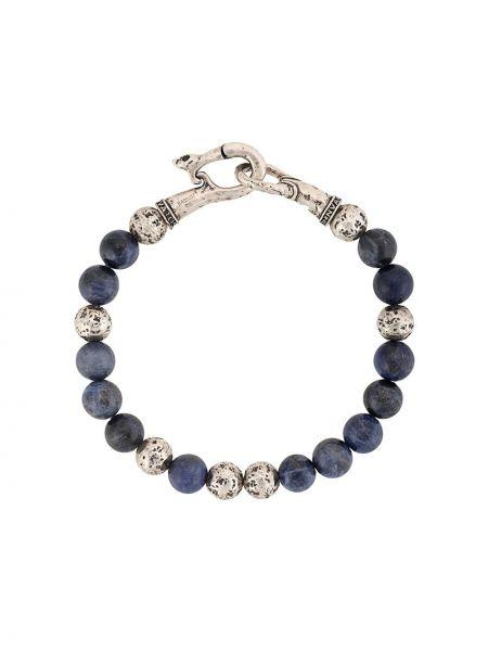 Синий браслет в бусинах John Varvatos