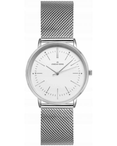 Biały klasyczny zegarek srebrny Jordan Kerr