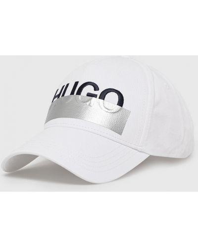 Biały kapelusz bawełniany Hugo