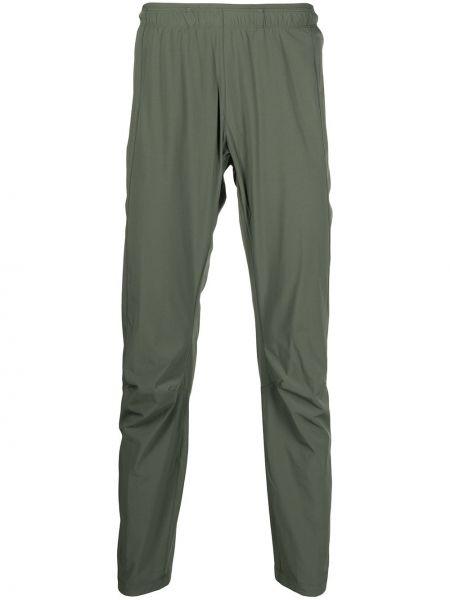 Zielone spodnie z nylonu Arcteryx