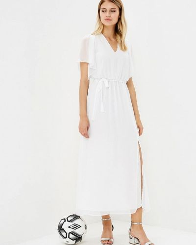 Белое платье осеннее Mango