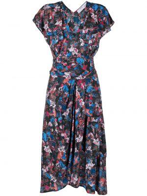 Платье миди с короткими рукавами - черное Iro