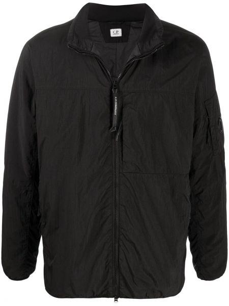 Длинная куртка черная легкая Cp Company Kids