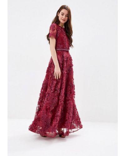 Вечернее платье бордовый красный Ksenia Knyazeva