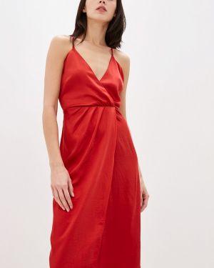 Вечернее платье красный осеннее Vila