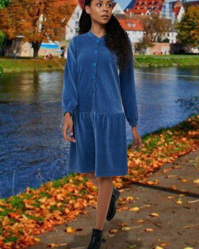Свободное повседневное платье миди свободного кроя Mix-mode