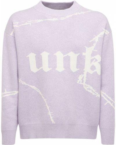 Сиреневый кашемировый свитер с воротником Unknown