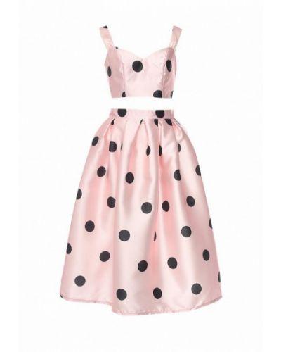 Розовый юбочный костюм Tutto Bene
