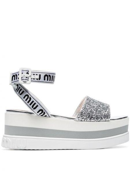 Sandały biały Miu Miu