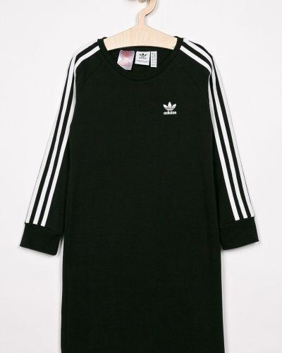 Платье с рукавами однотонное черное Adidas Originals
