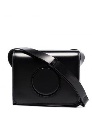 Czarna torba na ramię skórzana Lemaire
