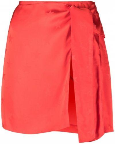 С завышенной талией красная прямая юбка мини Laneus