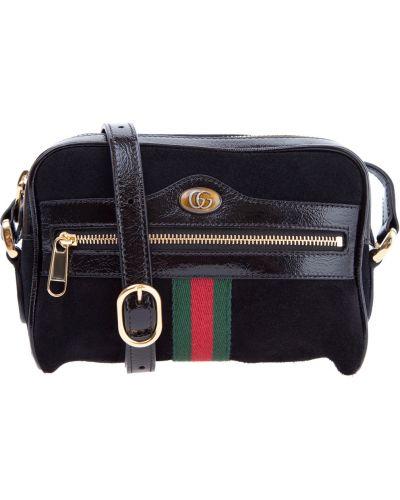 Сумка на цепочке кожаный с логотипом Gucci