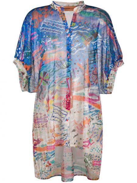 Рубашка с коротким рукавом без воротника с принтом Missoni Mare