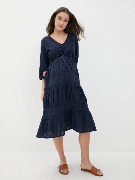 Платье для беременных фиолетовый весеннее Mama.licious