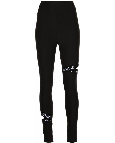 Czarne legginsy bawełniane Monse