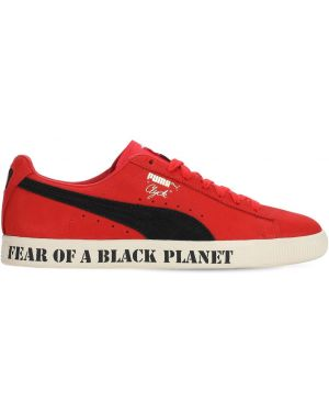 Sneakersy skorzane sznurowane koronkowe Puma Select