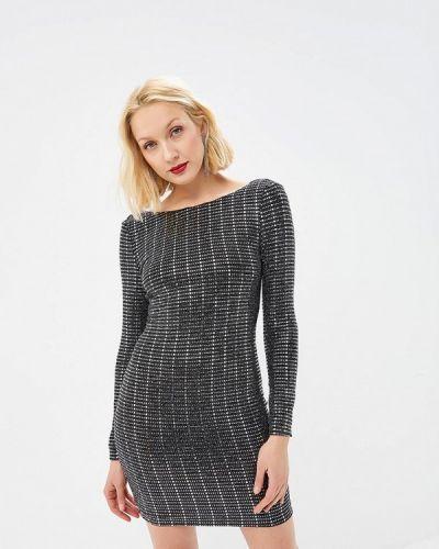 Вечернее платье весеннее серебряный Soky & Soka