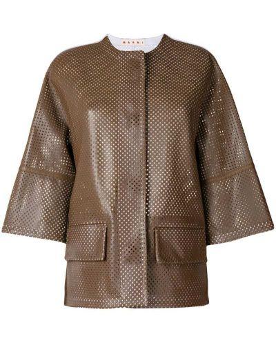 Укороченная куртка прямая с перфорацией Marni