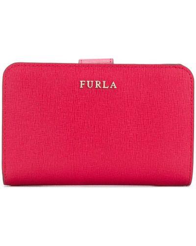 Кожаный кошелек на молнии на кнопках Furla