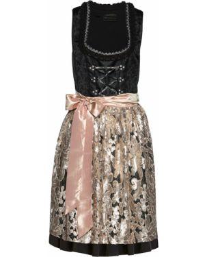 Платье с пайетками на шнуровке Bonprix