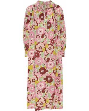 Теплое платье розовое с цветочным принтом Dodo Bar Or