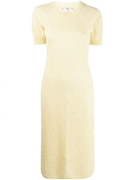 Платье мини в рубчик итальянский Fendi