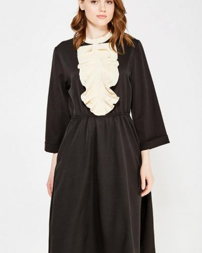 Прямое черное платье Love & Light