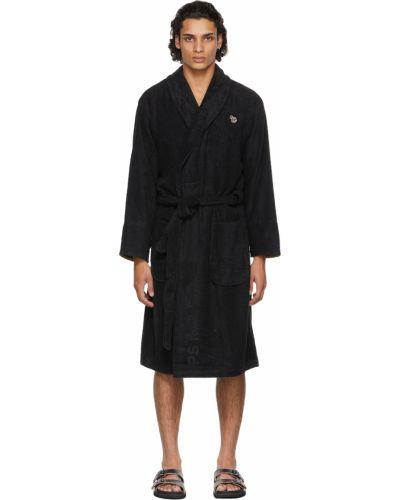 Długi szlafrok bawełniany - czarny Paul Smith