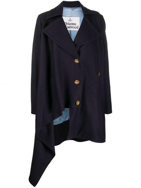 Асимметричный синий удлиненный пиджак на пуговицах Vivienne Westwood