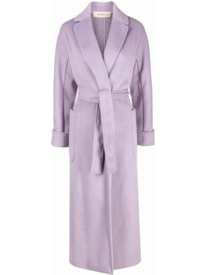 Fioletowy długi płaszcz Blanca Vita