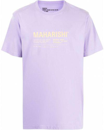 Фиолетовая футболка короткая Maharishi