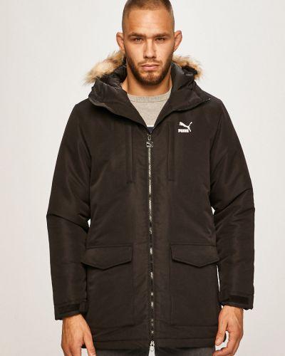 Утепленная куртка с капюшоном черная Puma