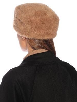 Шерстяная шапка - коричневая Max Mara
