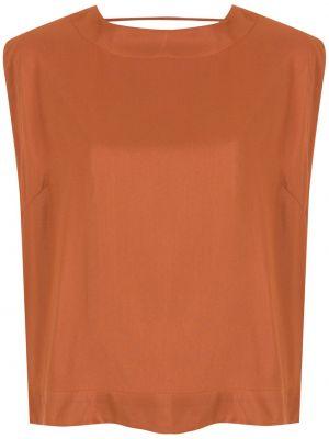 Блузка без рукавов - коричневая Osklen